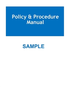 Picture of SLEEP CENTER POLICY AND PROCEDURE MANUAL